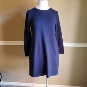 Boden Navy Sweatshirt Dress with Pockets 6